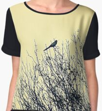 Magpie perched on tree Chiffon Top