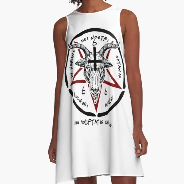 BAPHOMET - SIGIL OF SATAN - THE OCCULT A-Line Dress