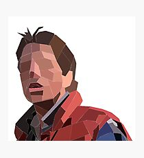 Marty Mcfly Polygons Photographic Print