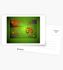 OM XMAS GREEN Postcards