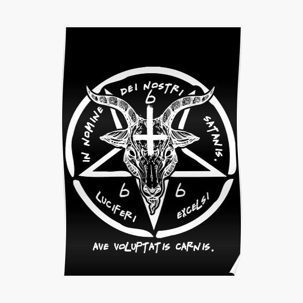 BAPHOMET - SIGIL OF SATAN - THE OCCULT Poster