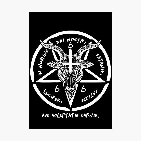 Baphomet Knights Templar Icon Angel Giant Wall Art Poster Print