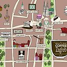 Illustrated Zagreb Coffee Map? by Hjarne  Kaiser