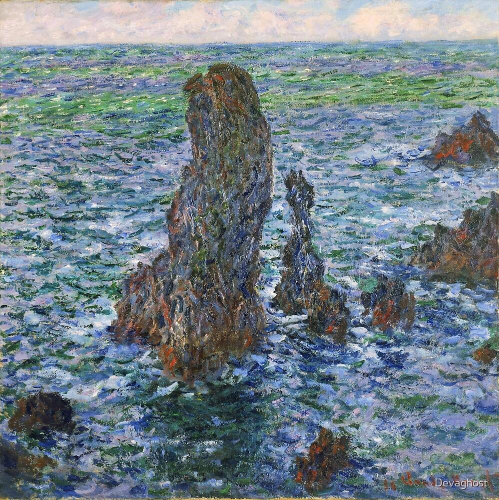 Monet - The Needles of Port-Coton by Devaghost