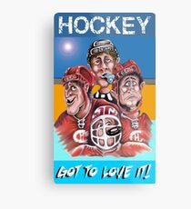 Hockey Metal Print