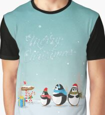 Christmas Penguins Graphic T-Shirt