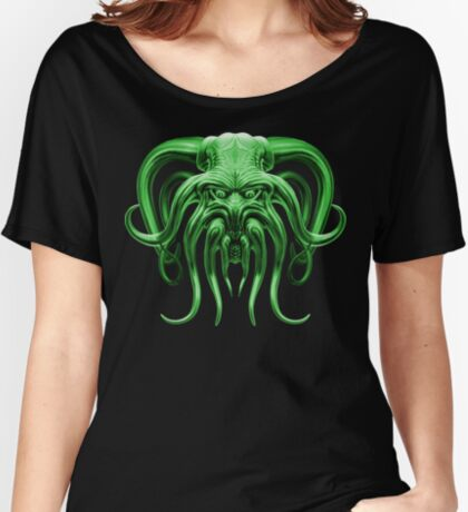 Cthulhu in Green Women's Relaxed Fit T-Shirt