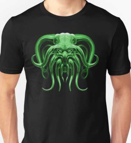 Cthulhu in Green T-Shirt