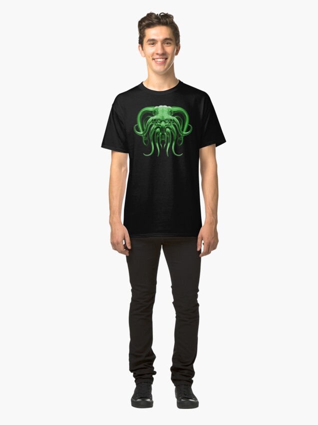Alternate view of Cthulhu in Green Classic T-Shirt