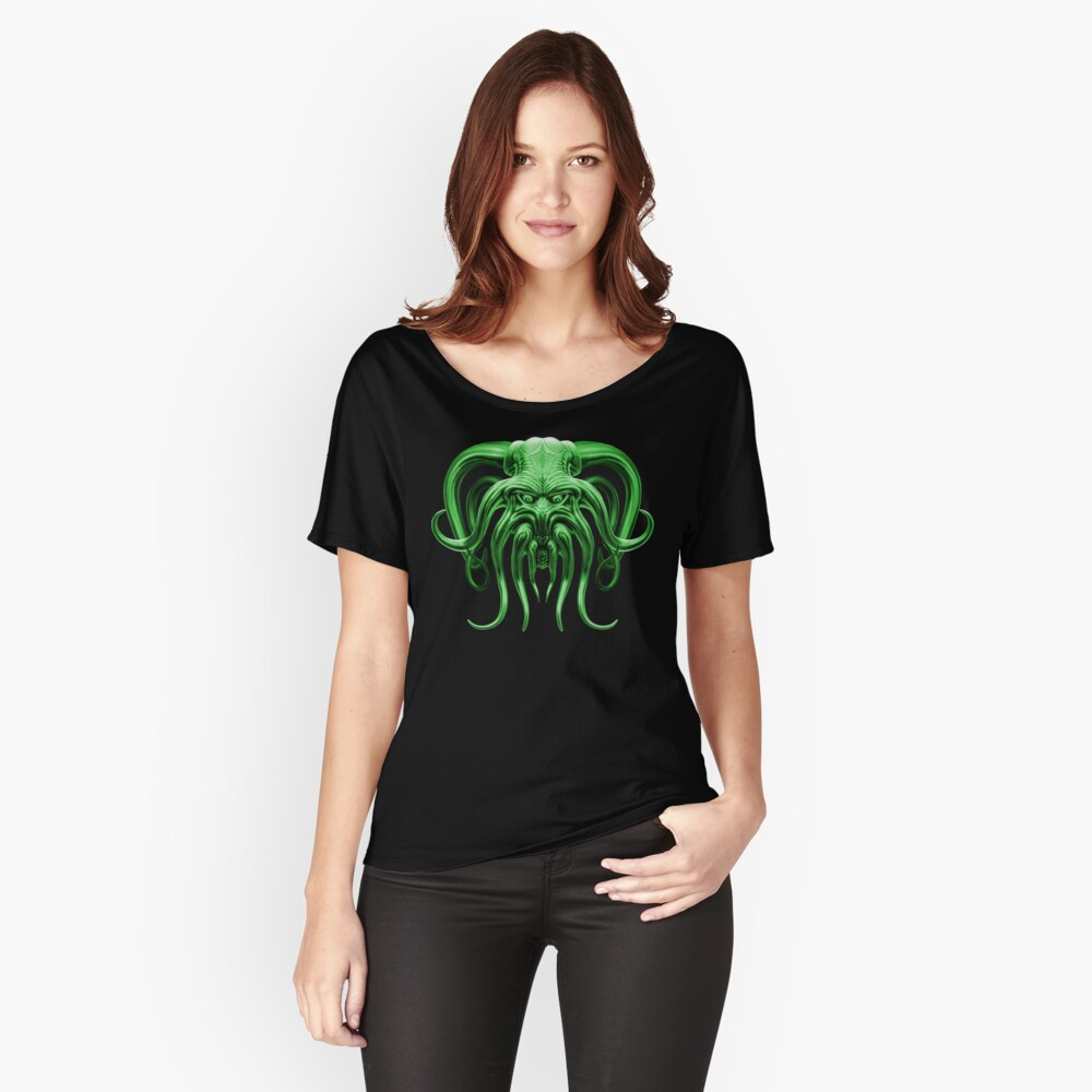 Cthulhu in Green Women's Relaxed Fit T-Shirt Front