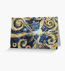 Doctor Who - Wibbly Wobbly Greeting Card