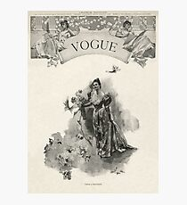 The first issue of Vogue / cover magazine Photographic Print