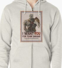 Join The Revolution! Zipped Hoodie