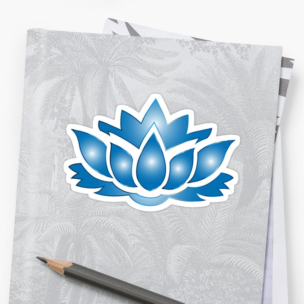 Ultramarine Lotus Flower Silhouette No Background Stickers By