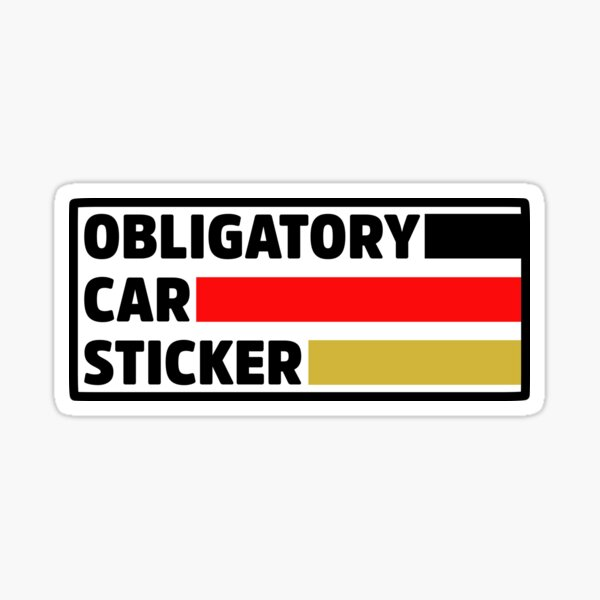 Obligatory German Car Sticker Sticker