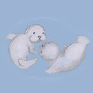 Baby Seals 2 by Jayne Le Mee