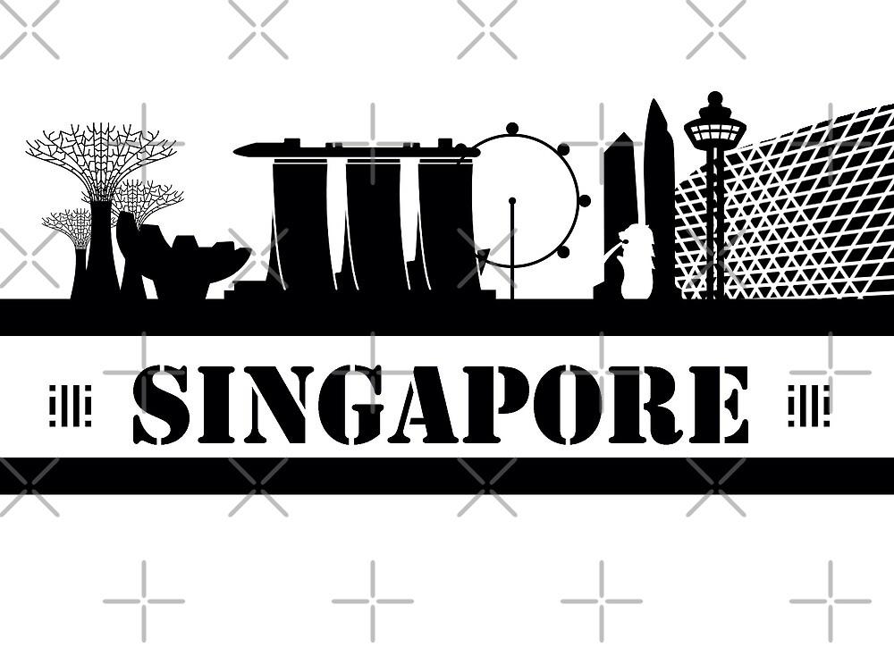 Singapore Skyline by zoddie