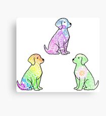 Tie Dye Cute Puppies Pack 2 Canvas Print