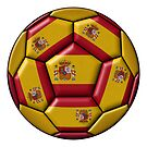 Ball with Spanish flag by siloto
