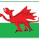 Welsh Dragon Flag - Cartoon by Eliseharris