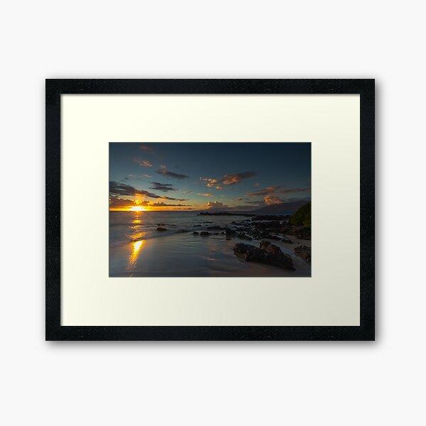 Maui Kehei Sunset Framed Art Print