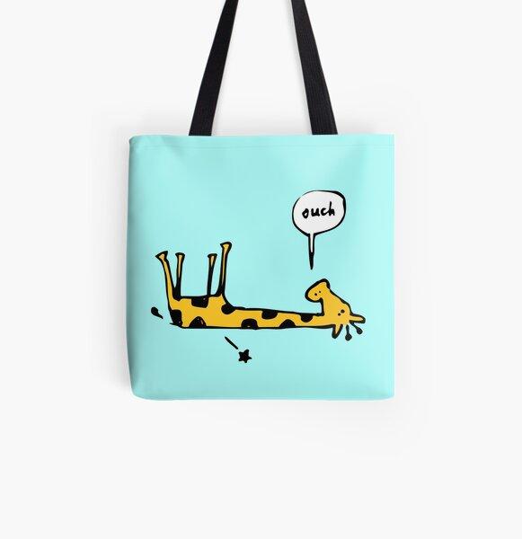 Poorly Giraffe All Over Print Tote Bag