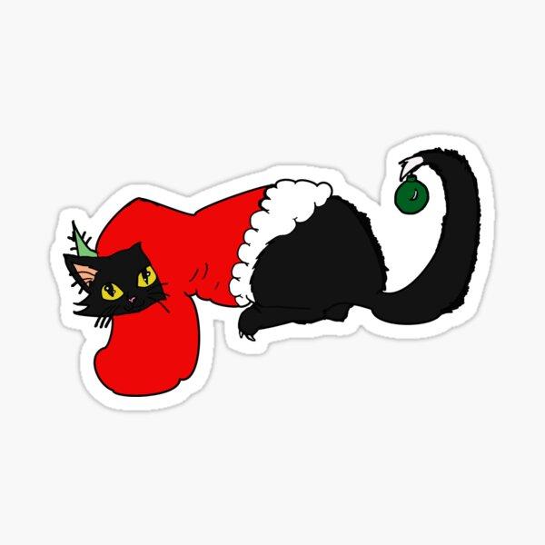 Stocking Kitty Sticker