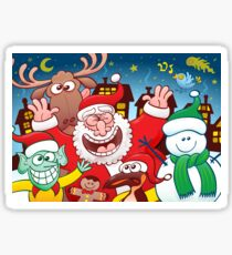 Santa and his team are ready for the great Christmas season! Sticker