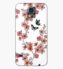 Sakura butterflies in peach pink watercolor Case/Skin for Samsung Galaxy