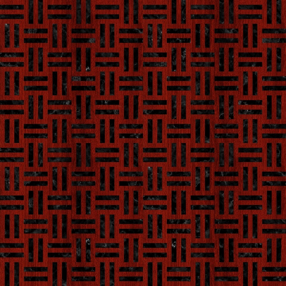 WOVEN1 BLACK MARBLE & REDDISH-BROWN WOOD by johnhunternance