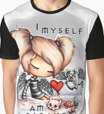 Melancholy Goth Girl in the Snow Graphic T-Shirt