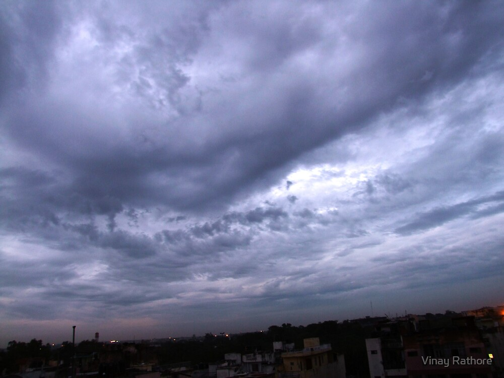 The morning clouds by Vinay Rathore