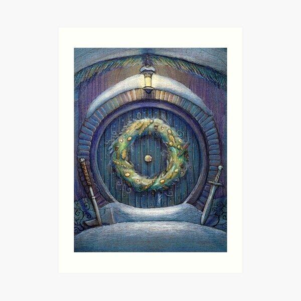 Tolkien Fantasy Christmas Card Art Print