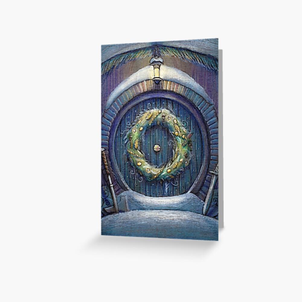Tolkien Fantasy Christmas Card Greeting Card