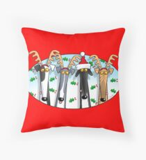 Greyhound Antlers (assorted) Throw Pillow