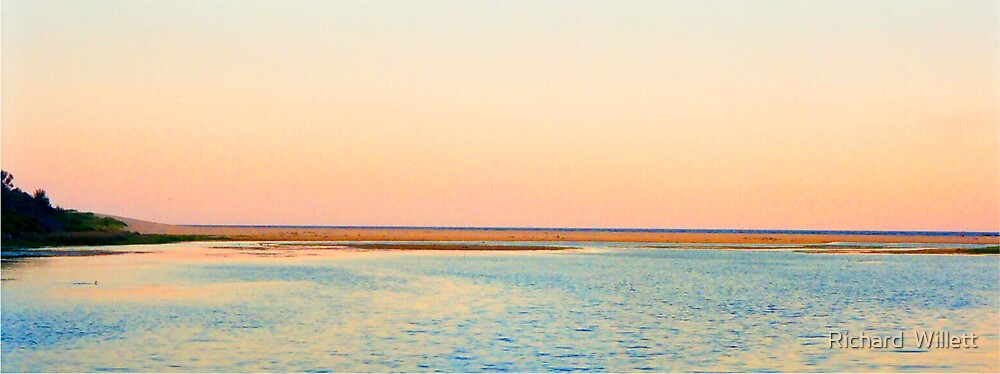 Dusk on the Water at Tabourie  by Richard  Willett