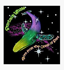 Starback Whale (with text) Photographic Print