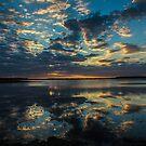Sunset over Myakka Lake by Joe Saladino