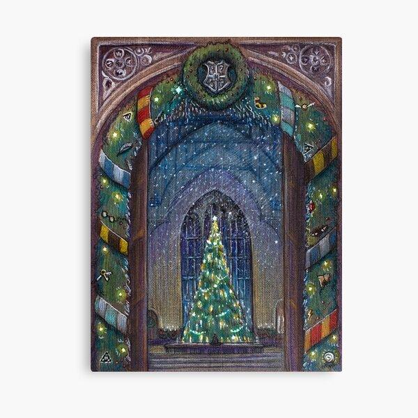 Potterhead Christmas door Canvas Print