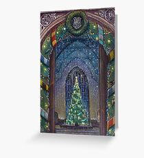 Potterhead Christmas door Greeting Card