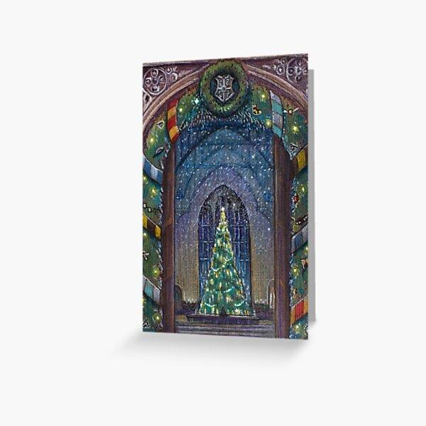 Potterhead Christmas door Greeting Card