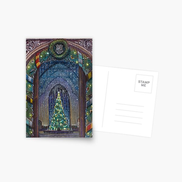 Potterhead Christmas door Postcard