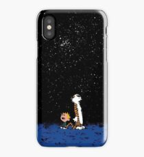 calvin and hobbes nigh iPhone Case/Skin