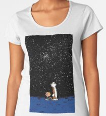 calvin and hobbes nigh Women's Premium T-Shirt