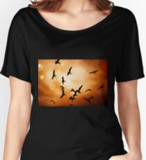Frigate Birds Over Puerto Lopez Women's Relaxed Fit T-Shirt
