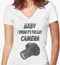 Last camera Women's Fitted V-Neck T-Shirt