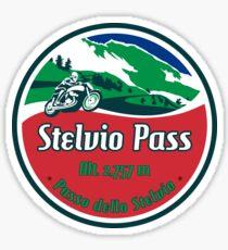 Stelvio Pass Design - Italian Flag Colors Sticker