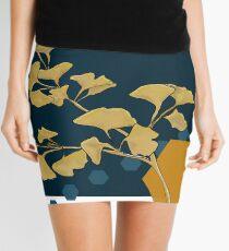 Gingko and Hexagons Mini Skirt