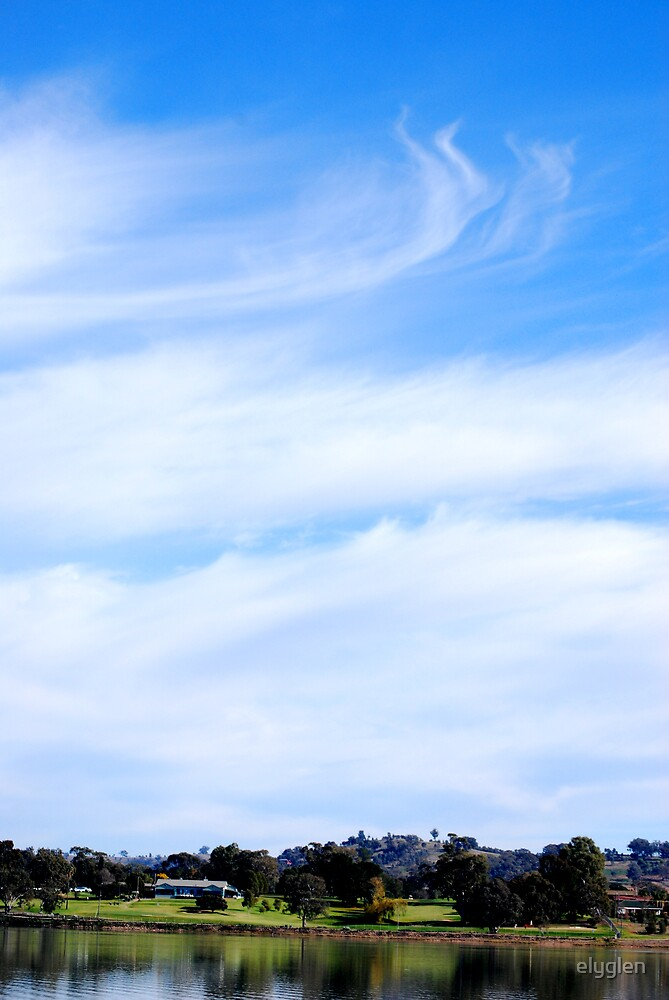 Lake Albert Sky by elyglen
