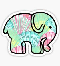 Ivory Ella Inspired Elephant Sticker Lilly Pulitzer Inspired Print Sticker